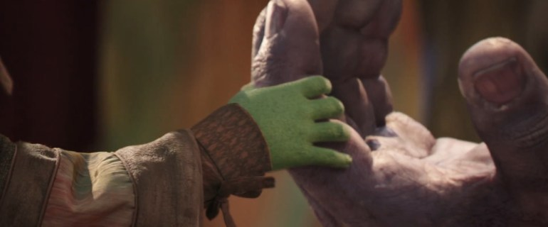 gamora and thanos