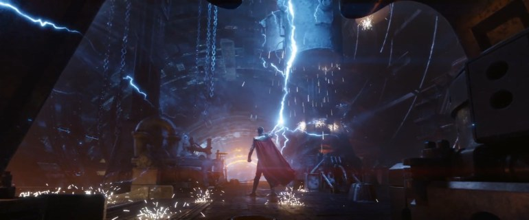 thor building his new weapon