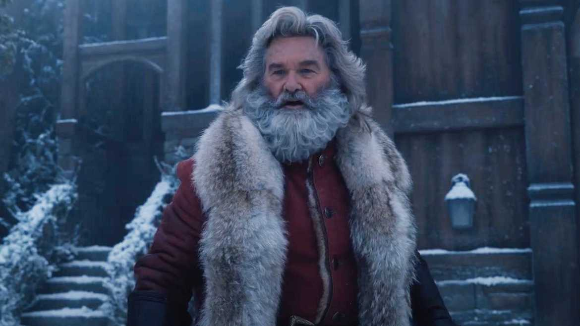 Kurt Rusell in costume as Santa Claus in 'The Christmas Chronicles 2.'