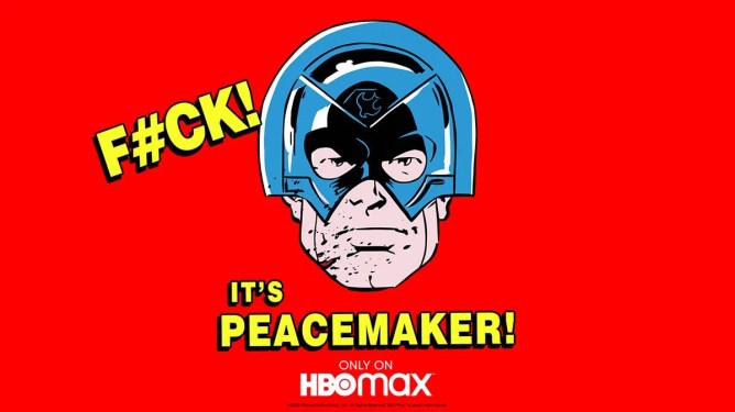 Promotional Peacemaker art for the upcoming HBO Max series.