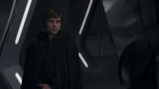 A de-aged Mark Hamill as young Luke Skywalker in the season 2 finale of The Mandalorian.