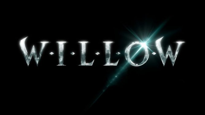 The new logo for the Willow series coming from Lucasfilm to Disney+.