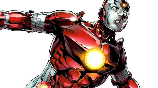 Iron Lad from the Young Avengers as seen in Marvel Comics.