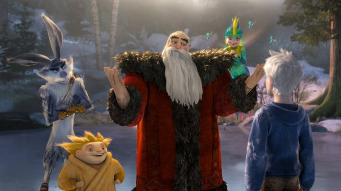 The holiday themed heroes of Rise of the Guardians directed by Peter Ramsey.