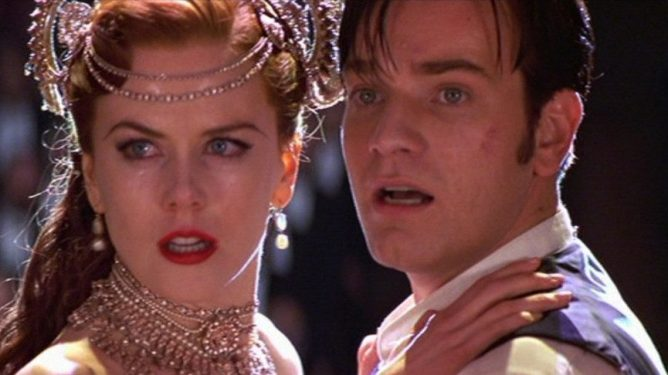 Ewan McGregor and Nicole Kidman together in Moulin Rouge