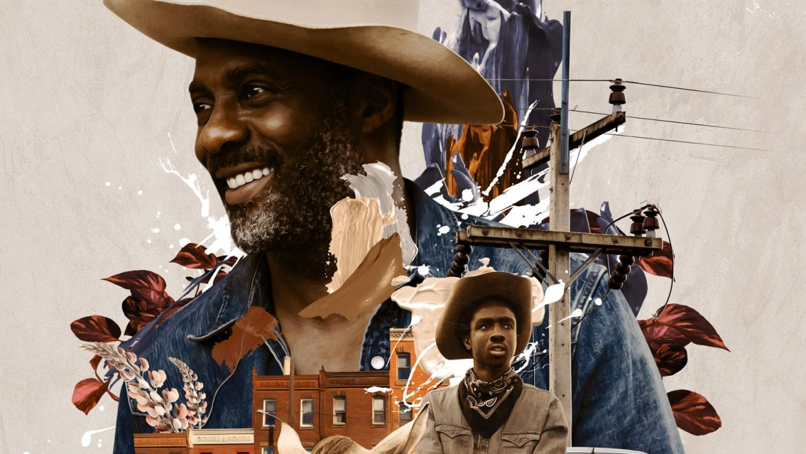 The poster for Concrete Cowboy starring Idris Elba and Caleb McLaughlin coming to Netflix April 2021.