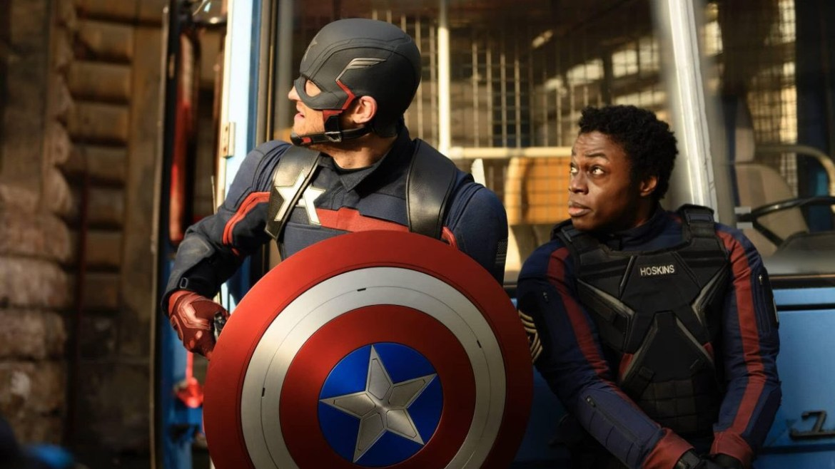 John Walker Captain America and Battlestar as seen in Episode 4 of The Falcon and the Winter Soldier.