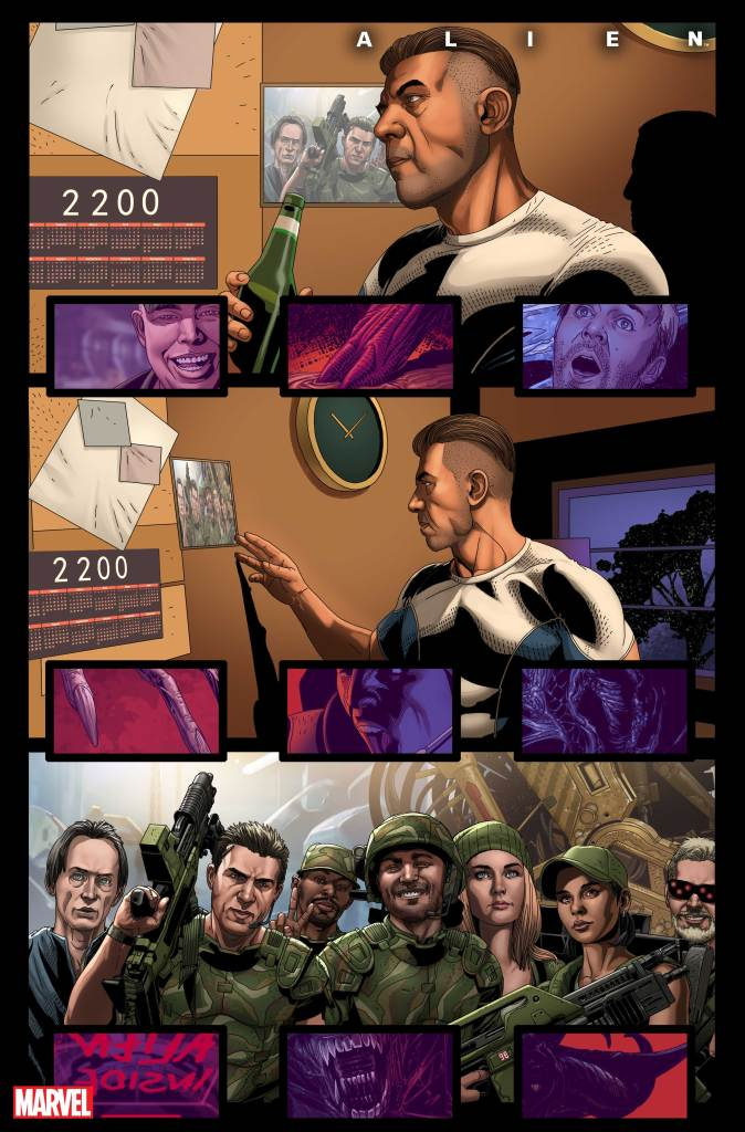 The history of Gabriel Cruz as seen in issue 1 of the Alien Marvel Comics series.