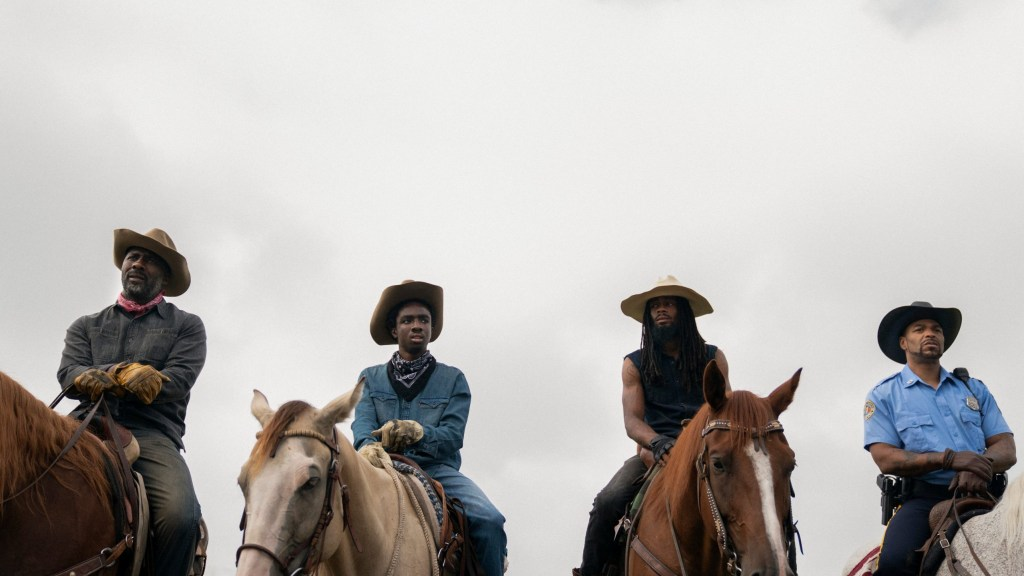 The Black Cowboys of Fletcher Street as seen in the Netflix film Concrete Cowboy directed by Ricky Staub.