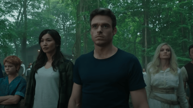 First look at upcoming Marvel MCU film Eternals featuring Richard Madden, Gemma Chan, and Angelina Jolie