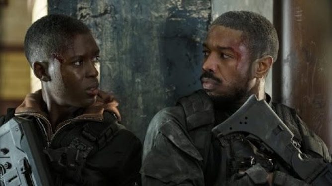 Michael B. Jordan and Jodie Turner-Smith in the heat of battle as seen in Tom Clancy's Without Remorse directed by Stefano Sollima.