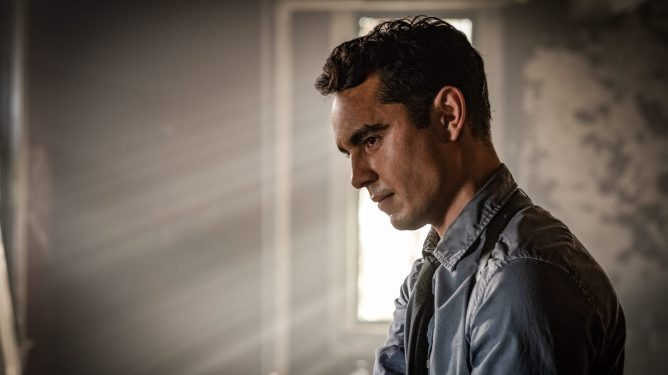 Max Minghella as a detective in the latest sequel to the Saw franchise, Spiral: From the Book of Saw.