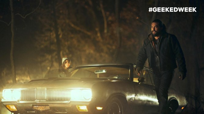 Jason Momoa in Netflix's Sweet Girl, as revealed during Netflix's Geeked Week online event.