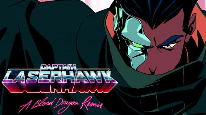 captain laser hawk a blood dragon remix, an upcoming Netflix animated show based on the Far Cry spin off, Blood Dragon