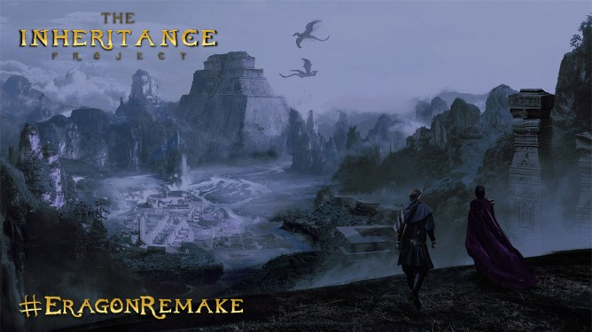 Fan-made concept art showing the mystical land of Alegaësia created for the online campaign to get Disney to remake ERAGON on Disney+. #RemakeEragon