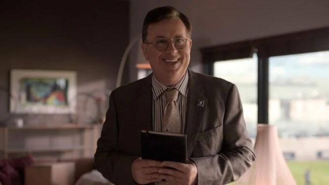Jeremy Swift as Higgins in TED LASSO season 1.