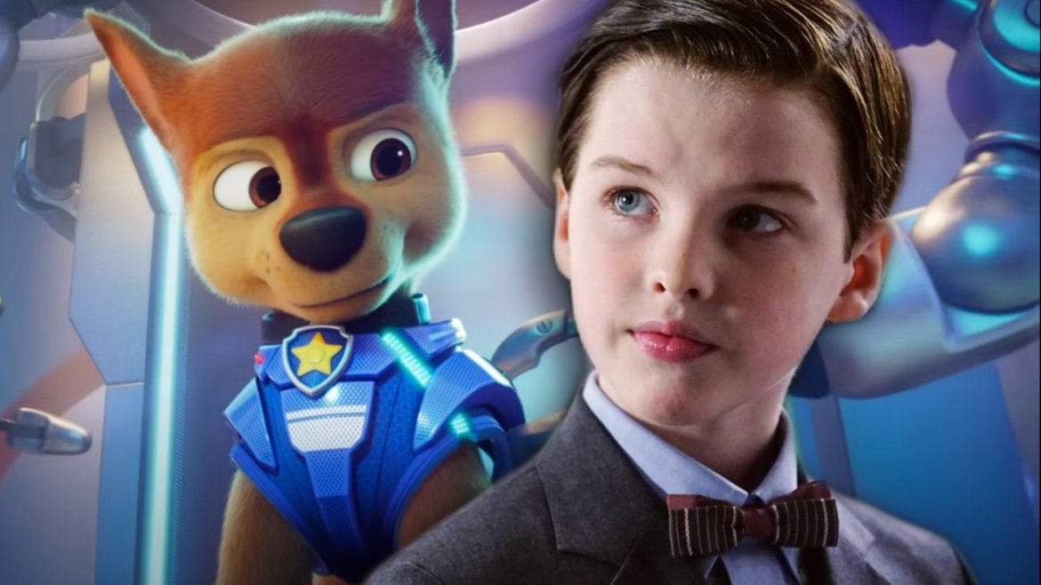 Iain Armitage as the cop dog in paw patrol the movie