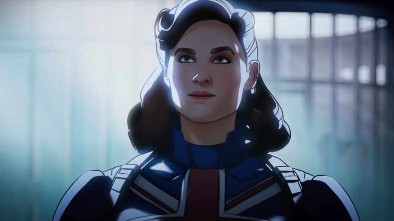Captain Carter voiced by Hayley Atwell in the first animated Marvel series on Disney+ WHAT IF...?