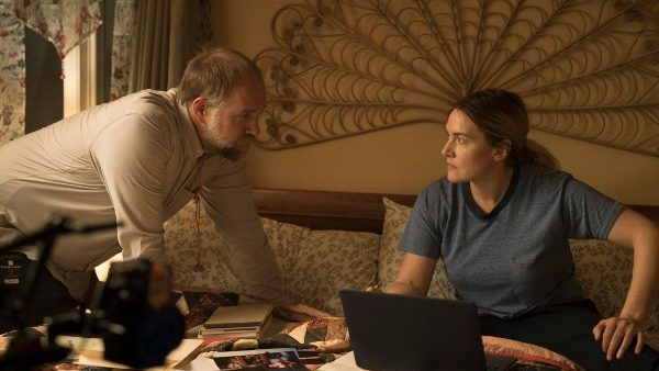 Craig Zobel directing lead star Kate Winslet on the set of the hit HBO limited series MARE OF EASTTOWN.