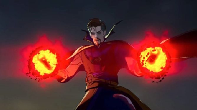 The alternate evil version of Doctor Strange voiced by Benedict Cumberbatch as seen in episode 4 of WHAT IF...? on Disney+