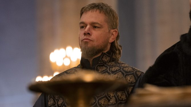Matt Damon as Jean de Carrouges in the new medieval epic THE LAST DUEL directed by Ridley Scott.