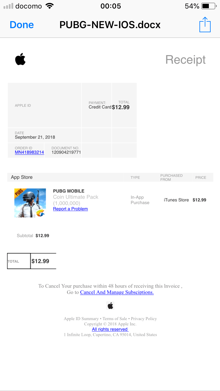 There S An Email Receipt Of Payment I Did Apple Community