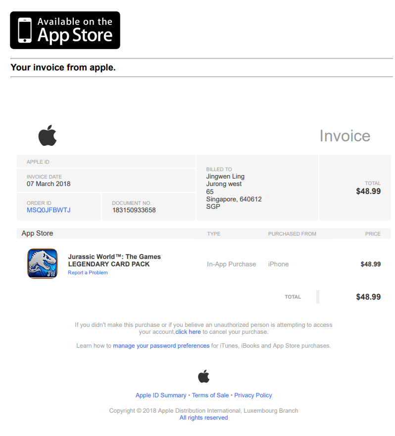 Fake Purchase App Store With Phishing Rec Apple Community