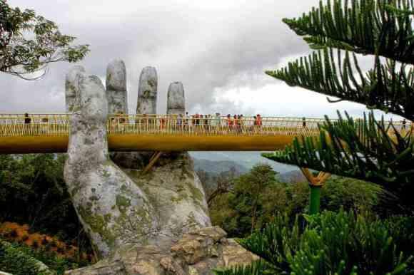 Vietnam's Magical Golden Bridge in Da Nang, Vietnam