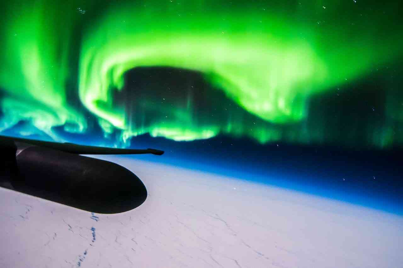 What the northern lights look like from a U-2 spy plane at 70,000ft.