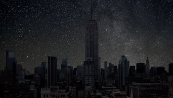 What cities look like at night without electricity