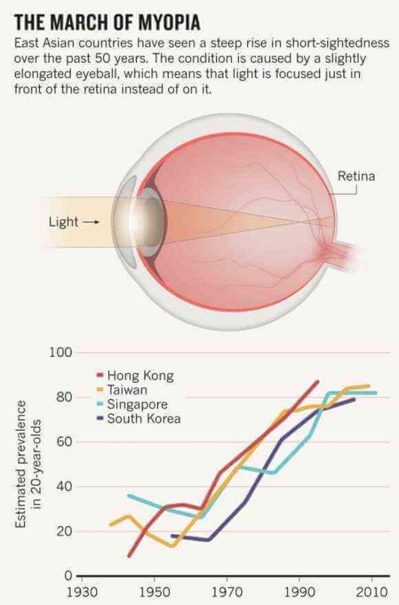 Natural light prevents myopia
