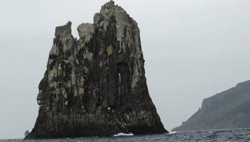 the rock urup island russia