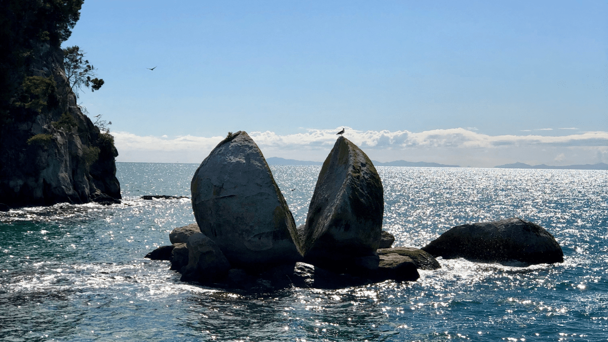 Split Apple Rock New Zealand