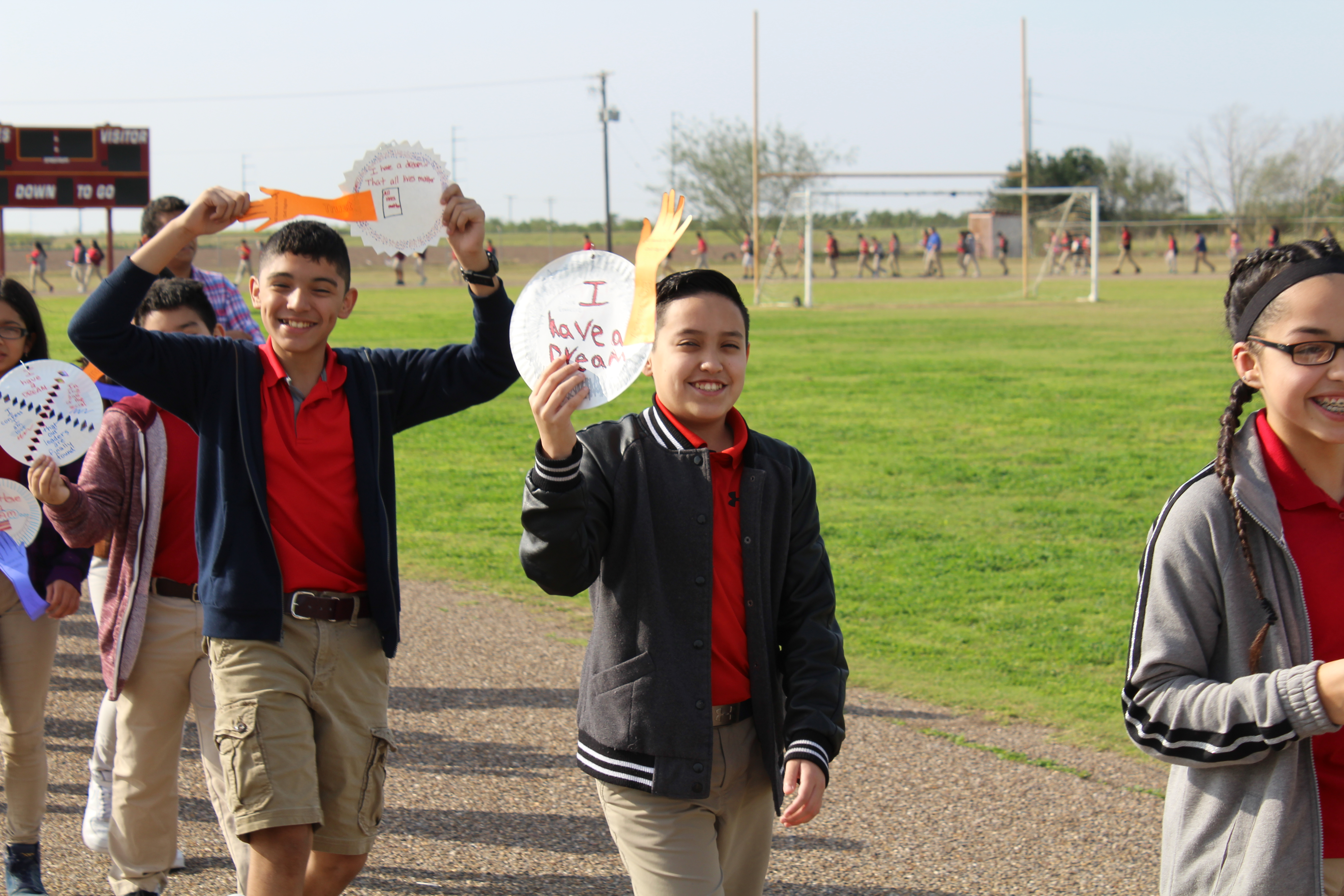Silent Civil Rights March Held At Solis Middle School In