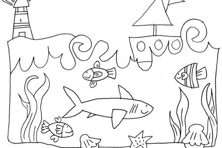 Sagome di pesci da colorare for Disegni di pesci da colorare e stampare gratis