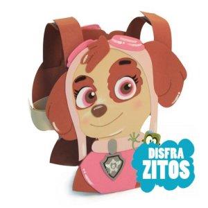 disfraz de goma eva de Skye de patrulla canina