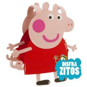 Disfraz de goma eva del personaje de dibujos animados Peppa Pig