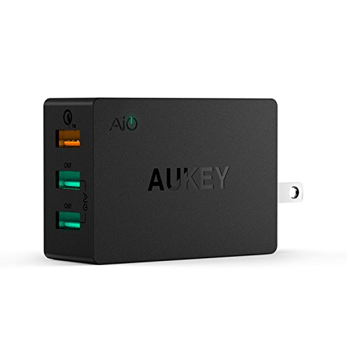 Quick Charge 2.0 AUKEY 3-Port USB Wall Charger