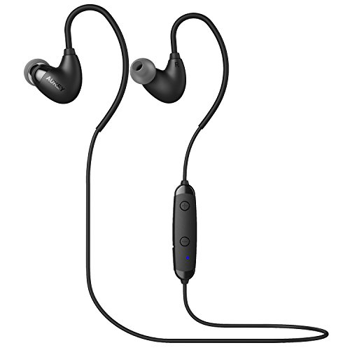 AUKEY B16 Arcs Bluetooth Headphones, Sport Earbuds Comfort Fit with 6 Hours Playtime