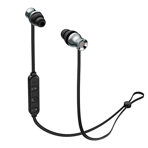 AUKEY Bluetooth Headphones, Wireless Magnetic Earbuds with Built-In Remote & Microphone