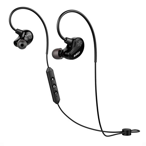 AUKEY Loops Bluetooth Headphones, Wireless Sport Earbuds