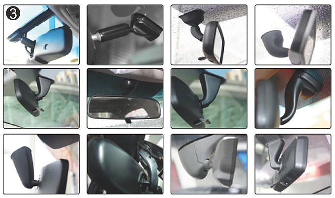 La figure 3 montre toutes les variantes de la pièce jointe régulière provenant de voitures.