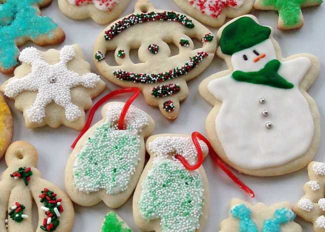 21 Fun and Creative Christmas Cookie Decorating Ideas   Allrecipes The Best Rolled Sugar Cookies