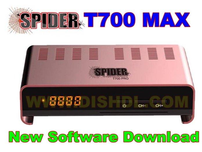 SPIDER T700 MAX NEW SOFTWARE UPDATE