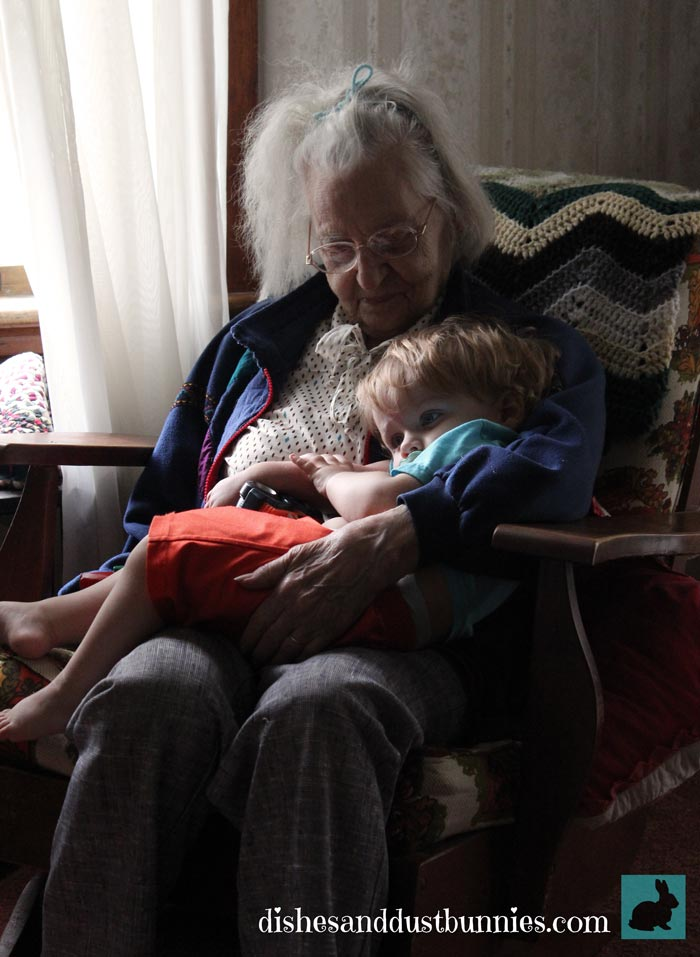 Great Grammie with Donnie