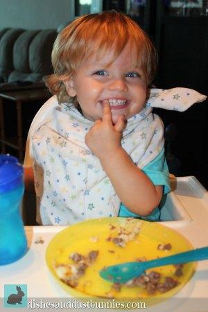 Donnie Enjoying Mama's Shepherd's Pie
