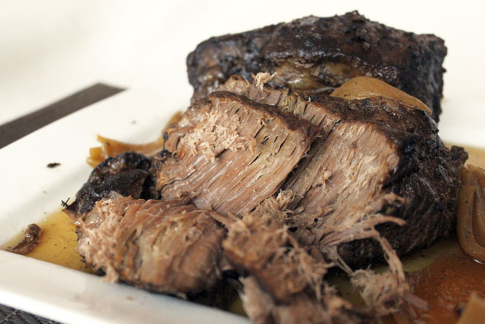 Tender Slow Cooker Roast Beef from Dishes & Dust Bunnies