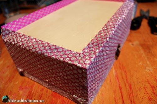 Dollar Store DIY Glitter Princess Trinket Box