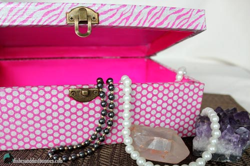 Dollar Store DIY Glitter Princess Trinket Box