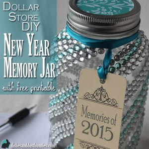 Make this Mason Jar Craft! Dollar Store DIY New Year Memory Jar